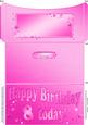8th Birthday Metallic Age Money or Gift Wallet and Card