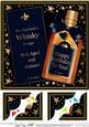 8 x 8 Birthday Whisky Scalloped Corner Topper
