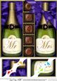 View 8 x 8 Mr & Mrs Champers n Chocs Scalloped corner Topper Details