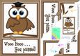 A5 Wise Owl Exam Congrats Felties Scallop Side Stacker
