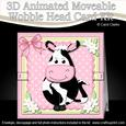 3D Milly Moo Cow Animated Moveable Wobble Head Card Kit