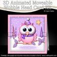 3D Little Hoot Xmas Animated Moveable Wobble Head Card Kit