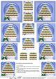 Xmas Pudding Tree Snowglobe Pyramage Sheet