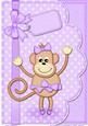 A4 Tu Tu Monkey Felties Envelope Edge