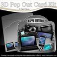 3D Gadgets N Gizmos Pop Out Card Kit