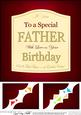 8 x 8 Father Birthday Wine Label Scalloped Corner Topper