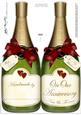 Large Dl Husband Anniversary Champagne Bottle Shaped Card