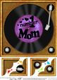 8 x 8 Number 1 Mom Record Scalloped Corner Topper