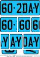 60th Birthday Fun Novelty Number Plate Side Stacker Topper