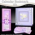 Flower Vases Everlasting Calendar Bookmark Gift Set