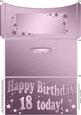 18th Birthday Metallic Age Money or Gift Wallet and Card