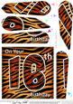 Fun Zebra Striped 16th Birthday Fan Pyramage Topper