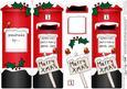 Xmas Robins Postbox Shaped Card N 3D Decoupage