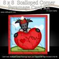 8 x 8 Hamish Dog's Heart Kit with Scalloped Corners