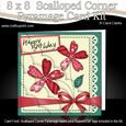 8 x 8 Patchwork Flowers N Lace Scalloped Corner Kit