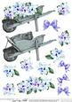 View Flower filled wheelbarrow 3D Decoupage sheet Details