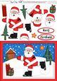 A5 Xmas Skating Santa Quick Card N 3D Decoupage