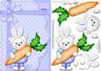 A5 Teddy Ed's Bunny Ears Quick Card N 3D Decoupage