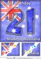 8 x 8 Flying the Flag Aus 21st Birthday Scalloped Topper