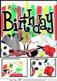 8 x 8 Birthday Sports and Games Scalloped Corner Topper