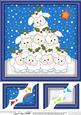 8 x 8 Xmas Little Lambs Scalloped Corner Topper