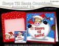 3D Xmas Horse Sleeps Till Santa Countdown Moveable Card