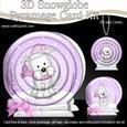 3D Xmas Westie Dog Snowglobe Circle Pyramage Card