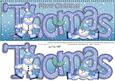 Xmas Large Dl Thomas Quick Card with Snowmen N 3D Decoupage