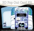 3D Xmas Santa Express Pop Out Card Kit