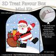 3D Xmas Santa's Sack Treat or Favour Box Mini Kit
