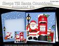 3D Xmas Santa Claus Sleeps Till Santa Countdown Moveable