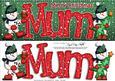 Large Dl Xmas Mum Quick Card 3D Decoupage