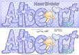 Large Dl Albert Birthday Quick Card N 3D Decoupage
