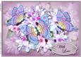 A4 with Love Flowers N Butterfly Card Topper