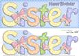 Large Dl Birthday Sister Card & 3D Decoupage
