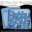 3D Bobby is 40 with Gadgets Pop Out Word Card Kit