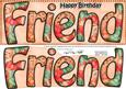Large Dl Birthday Friend Card & 3D Decoupage