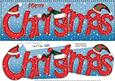 Large Dl Merry Christmas Quick Card 3D Decoupage