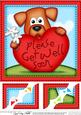 8 x 8 Rusty Dog's Get Well Heart Scalloped Topper