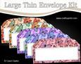 5 Large Slim Butterfly Time Envelopes Kit