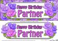 Large Dl Happy Birthday Partner Roses Card & 3D Decoupage