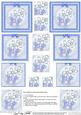 Fluttery Butterfly & Flower Pyramage Sheet