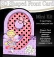 3D 9th Birthday Fairy Shaped Front Card with Decoupage