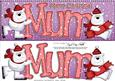 Large Dl Xmas Mum Polar Bears Quick Card 3D Decoupage