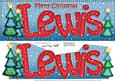 Merry Christmas Lewis Xmas Trees Large Dl & 3D Decoupage
