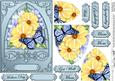 Summer Flowers & Butterfly Fancy Arch Shaped Pyramid Sheet