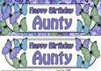 Large Dl Birthday Aunty Butterflies Card & 3D Decoupage