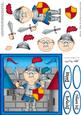 Bert the Knight with Castle Quick Card & 3D Decoupage