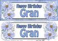 Large Dl Birthday Gran Daisies Floral 3D Decoupage