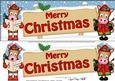 Christmas Gigi Horse Signpost Large Dl Easicut 3D Decoupage